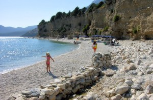 aspres beach at kampos marathokampou samos greek island