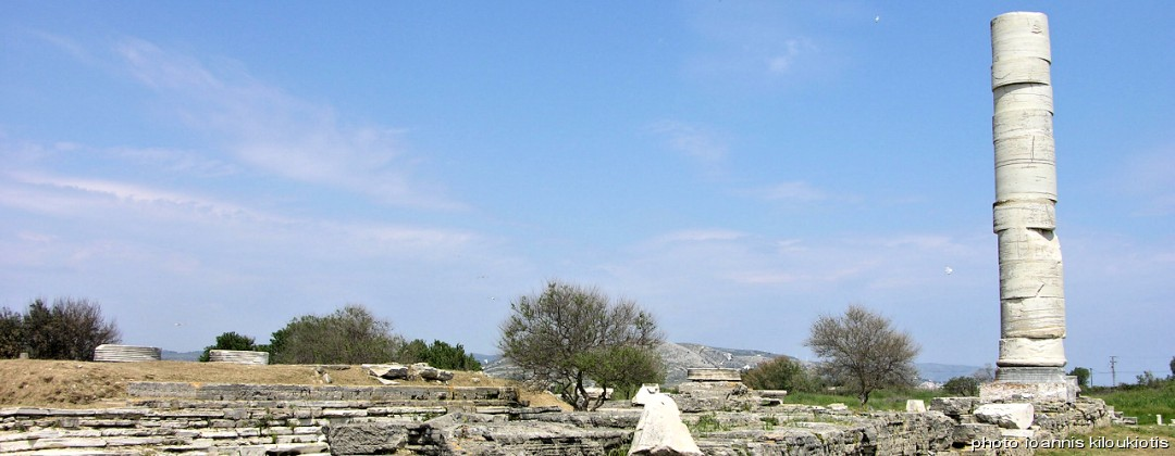 Temple dedicate to Goddess Hera ireon samos sightsee