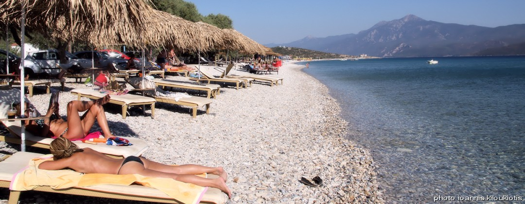 mikali beach pythagorio Samos city sightsee