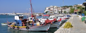Ormos marathokampou Samos city sightsee
