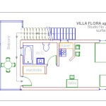 Villa flora samos apartments Studio 1 ground plan